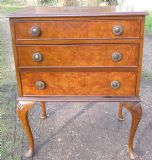 Burr Walnut Small Chest of Drawers